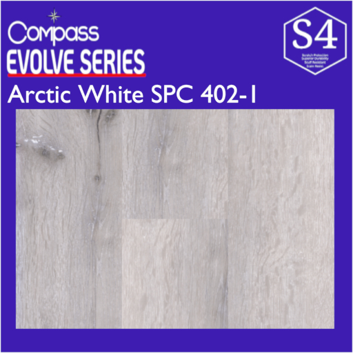Arctic White Compass SPC   $2.49/sq.ft.